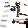 Hunting Archery Bow Fishing Reel Slingshot Catapult Kits Arrow Wrist Arrows Rest