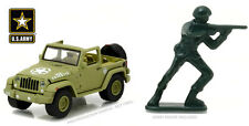 greenlight us army 2016 jeep wrangler with figure 1/64 scale 29884