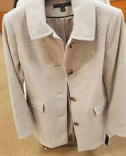 Preston & York Womens Long Tan Wool Coat Size 10