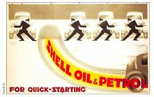 Post Card PUBLICITE ADS SHELL OIL n90 ILLUSTRATION VIC