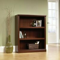 Bookcase 3-Shelf Display Stand Storage Shelving Unit Cabinet Wood Simple Modern