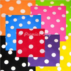 8 x Classic Polka Dot Dog Bandanas / Scarf - 3 Sizes To Choose From!