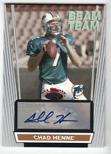Chad Henne 2008 Stadium Club Beam Team Auto Card