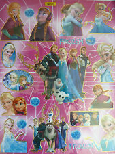 DISNEY PRINCESS  FROZEN ELSA ANNA KRISTOFF FOIL WALL  STICKER /KIDS/GIRLS/ ROOM