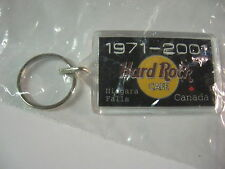 Hard Rock Cafe HRC Keychain Key Chain 30 Years 1971-2001 NIAGARA FALLS Not A Pin
