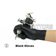 Latex Handschuhe schwarz,20 Stück,Gr.M, Tattoo Piercing Einweg TATTORS®med