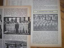 BIANCHI CARPANO SQUADRE 1961 CICLISMO SU RIVISTA GIOVANI