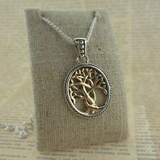 10K & Sterling Silver Celtic Tree of Life Pendant KEITH JACK Jewelry