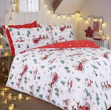 Christmas Santa Sleigh King Size Bedding