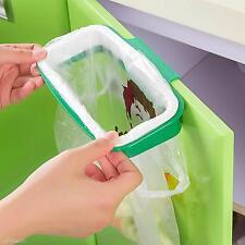 Trash Garbage Bag Rack Attach Holder/Over Cabinet Cupboard Door/Kitchen Bathroom