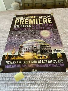 """THE KILLERS Original Movie Poster """"Live From Royal Albert Hall"""" & DVD CD Promo"""