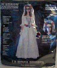 California Costumes Adult Women Halloween XS 4-6 THE DEAD BRIDE LA NOVIA MUERTA