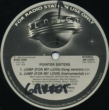 POINTER SISTERS Jump (For My Love) b/w I'm So Excited (1983 U.S. Promo 12inch)