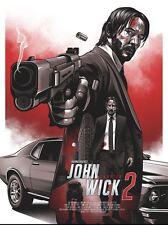 John wick 2 variante alternative movie poster art par amien Juugo no./30 nt mondo