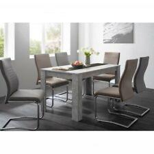 Tavolo da pranzo colore cemento inserto nero/bianco moderno elegante design