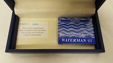 Waterman Carene Contemporary Black ST Fountain Pen M W/ 8 Florida Blue S0909930