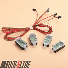 4xLED Footwell Light Lamp+Cable For Golf Passag AUDI A3 A4 A6 A8 Q3 Q5 Seat -OEM