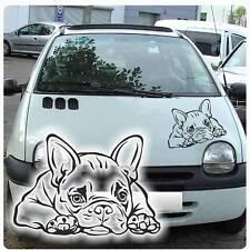 Auto Aufkleber Französische Bulldogge Pfote Autoaufkleber Hund Motorhauben A3039
