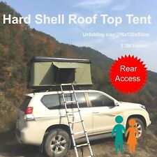 Hard Black Shell Aerodynamic Roof Top Tent Camping Rooftop Rear Access 1.2x2.1M