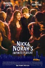 NICK & NORAH'S INFINITE PLAYLIST -2008 orig 27x40 D/S movie poster- MICHAEL CERA