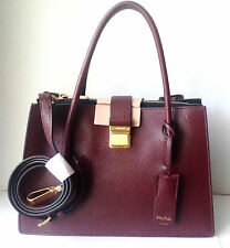MIU MIU LUXURY MADRA WINE COLOR FLAP SATCHEL CROSSBODY BAG 5BA1042A RT$2,220 NEW