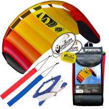 HQ 1.3M Symphony Beach III Trainer Kite w/Straps Foil Power Kiteboarding Stunt M