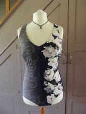 PALM BEACH from Germany Ladies Two tone Navy floral Swimming Suit UK 18 Cup C