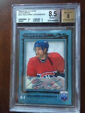 2006-07 BE A PLAYER GUILLAUME LATENDRESSE ROOKIE AUTOGRAPH BGS 8.5 CANADIENS