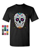 Floral Sugar Skull Day of the Dead T-Shirt Dia de los Muertos Tee