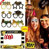 Happy New Year's Eve 2021 Party Props Selfie Photo Booth Frame Glasses Decor Hot