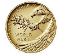 2020 End of World War II 75th Anniversary 24-Karat Gold Coin 1/2oz UNOPENED
