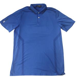 Ralph Lauren RLX Mens Polo Golf T Shirt Top M Medium Blue Sports Tee Breathable