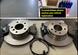 FOR BMW E90 E91 E92 E93 FRONT DISC (300MM) AND PADS SET WITH BRAKE WEAR LEAD