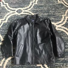 Women's Gap Leather Jacket Size Xl 12 Good Condition Genuine