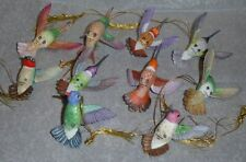 10 Vintage Lenox Porcelain Hummingbird Ornaments - 1990