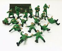 Vintage Adams Action 1958 Models 17 Hand Painted WW2 Army Soldiers