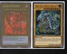 Yugioh Card - Ultimate Rare Holo - Blue Eyes White Dragon YSKR-EN001