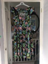 Hearts & Roses Black Floral Pinup Dress 18