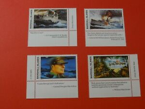 Stamps * MH Marshall Islands * MNH * Inscription Blocks * WWII * Lot 14