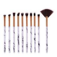 10 pcs Brosse Pinceaux Maquillage De Set Poudre Fard À Paupières Eye-liner Yeux