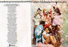 G- Publicité Advertising 1969 (2 pages) Pyjamas  enfants Polichinelle