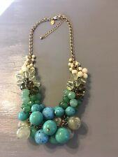 "lia sophia Laguna Necklace. 18 - 21"". Blue, Green, Turquoise Beads. Runway!"