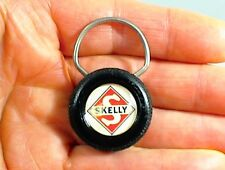 SKELLY GAS OIL COMPANY KEY RING CHAIN FOB WENCK`S SEVICE LANESBORO IOWA