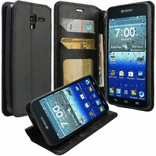For LG Optimus Zone 3 K4 Pouch Case PU Leather Credit Card Hybrid Wallet Cover