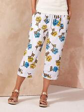 3/4-lange Hose Bermuda Sommerhose Shorts weiss Capsule Gr. 50 52 54 56 58 60 Neu