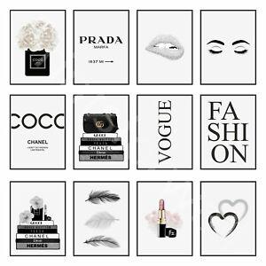 Fashion Art Prints Posters Vogue Fashion Perfume Marfa Coco Decor Art Print