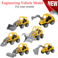 6Pcs Classic Mini Truck Model Engineering Car Construction Vehicle Toys Gifts