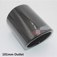 Glossy 101mm Outlet Carbon Fiber Car SUV Exhaust Pipe Cover Muffler Pipe End Tip