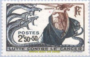 EBS France 1941 Lutte contre le cancer - Cancer 1904 YT 496 MNH**