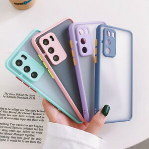 For Huawei P40 P30 Lite P20 Pro P Smart Shockproof Matte Acrylic Hard Case Cover